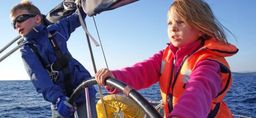 Les enfants à bord